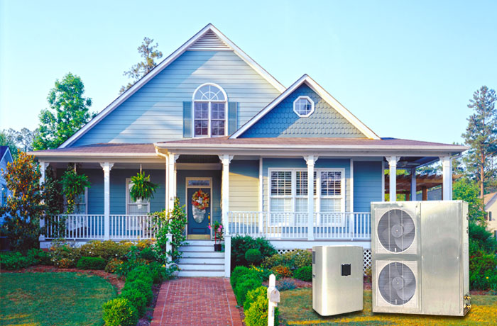 product-OSB Heat Pump-Stainless Steel Cabinet Heat Pump, DC Inverter Air To Water Heat Pump Chiller -1