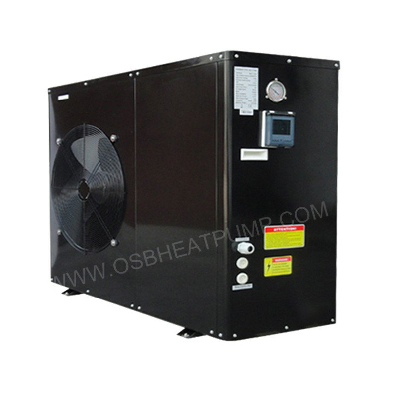 black metal evi air to water heat pump
