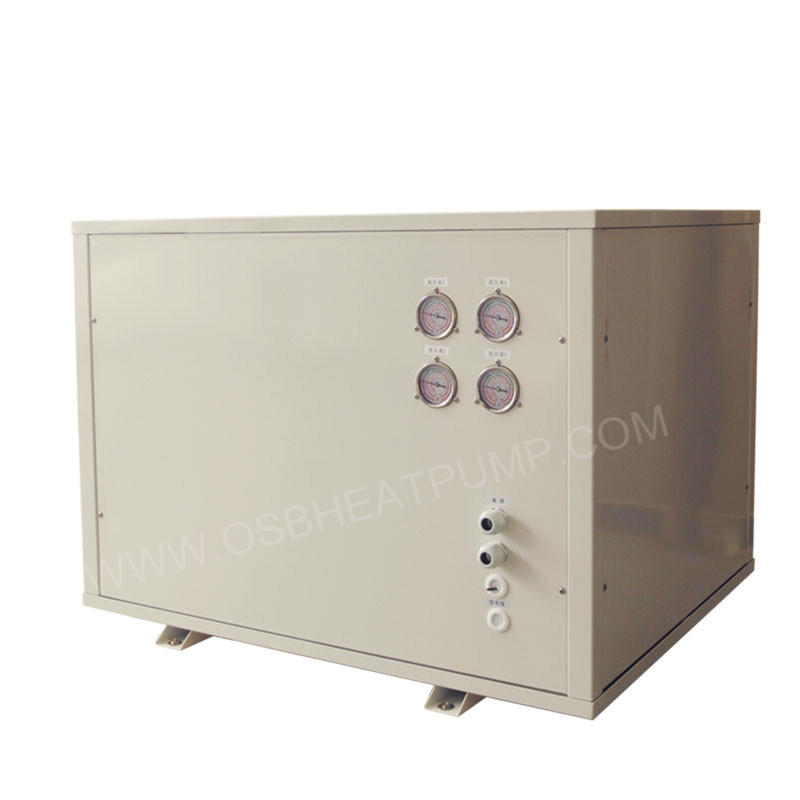 Water to water heat pump for heating and cooling