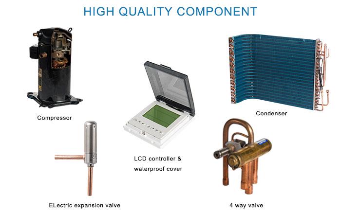 product-250L All In One Ac Heat Units Monoblock Heat Pump With WiFi Remote Control ZR9W-250VF3d-OSB-