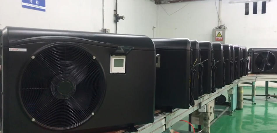 Production Online: Plastic cabinet pool heat pump model