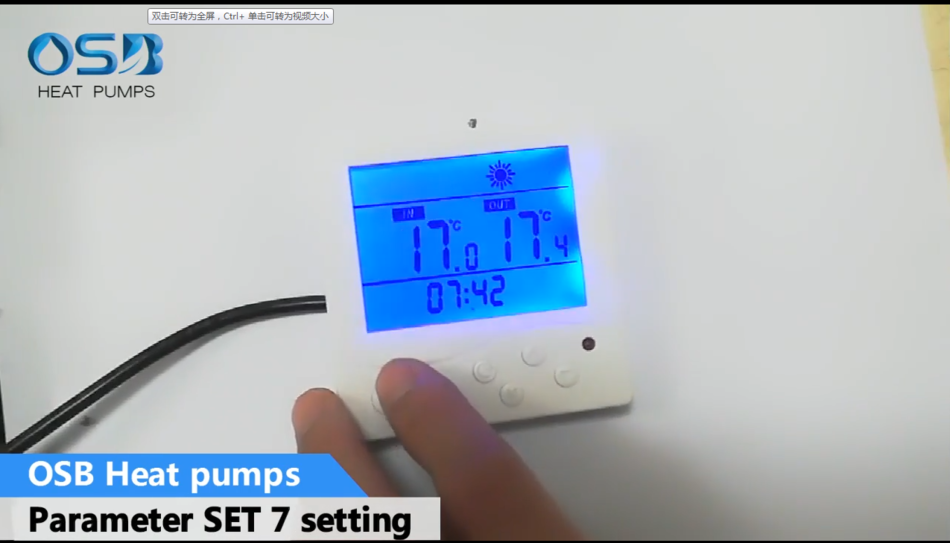OSB heat pumps parameter SET 7 setting
