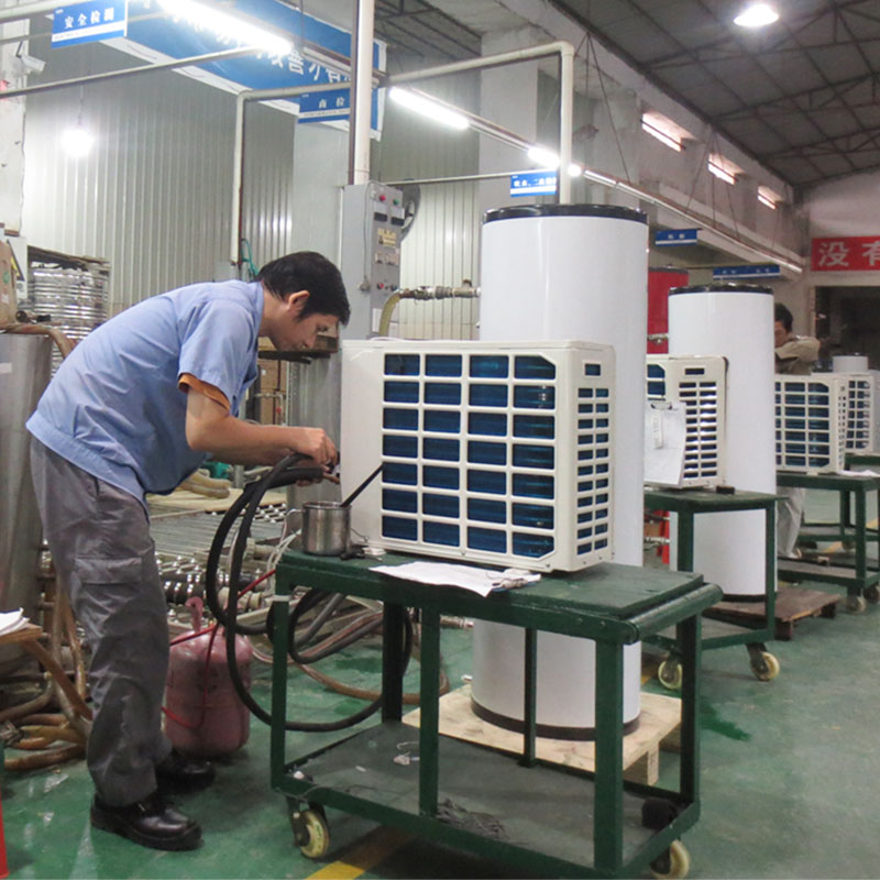 product-OSB-15 Ton Fluorine Cycle Air Source Heat Pump Water Heater With Pressure Water Tank For Hot