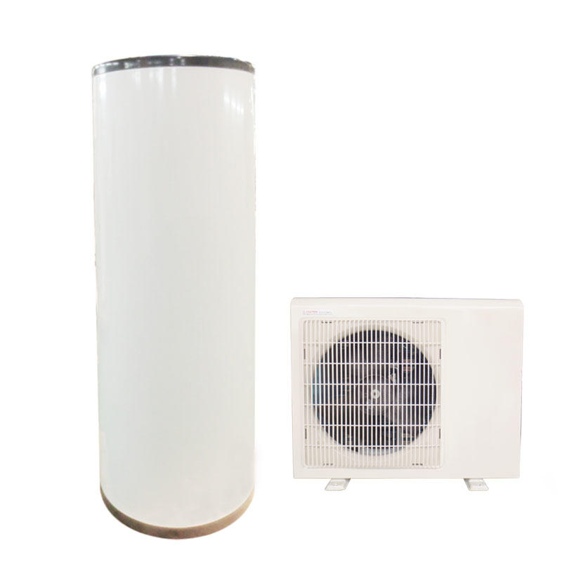 Household air to water heat pump split system with storage tank 250L