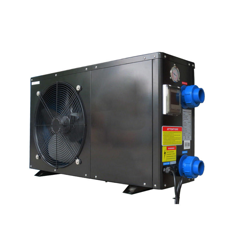 Black metal shell swimming pool heat pump heater with R32 gas BS16-020S
