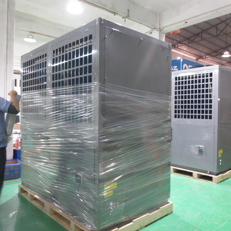 product-OSB Heat Pump-Grey metal shell swimming pool heat pump heater and chiller BS35-205T-img-1