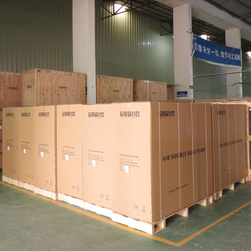 product-Stainless Steel Cabinet Heat Pump, DC Inverter Air To Water Heat Pump Chiller Water Heaters -1